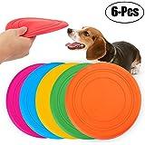 Legendog 6 Pcs Dog Flying Disc Rubber Small Dog Toys