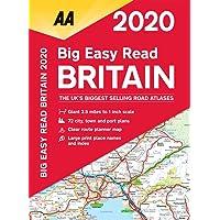 Big Easy Read Britain 2020 Spiral bound (AA Road Atlas Britain)