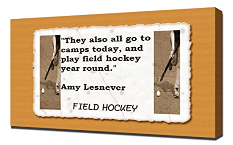 Amazon.com: Field Hockey Quotes 2 - Canvas Art Print ...