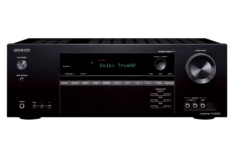 Onkyo TX-SR343 - Receptor AV 5.1, DTS-HD, Color Negro: Amazon.es ...