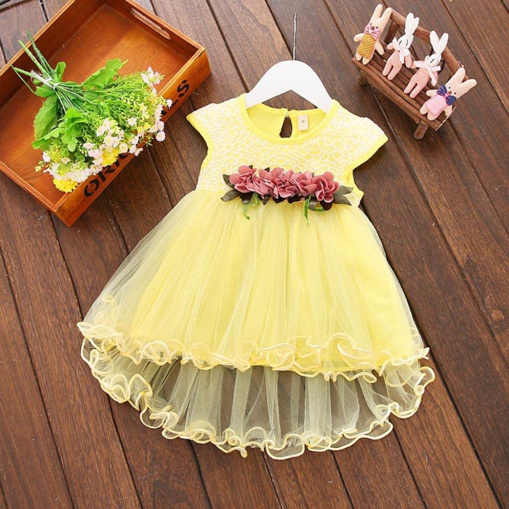 316517f09c4e Vestidos bebé niña ❤ Amlaiworld Vestido floral de verano para niñas  pequeñas Vestido de fiesta de tul princesa para bebé niña Recién nacido  Amlaiworld 1