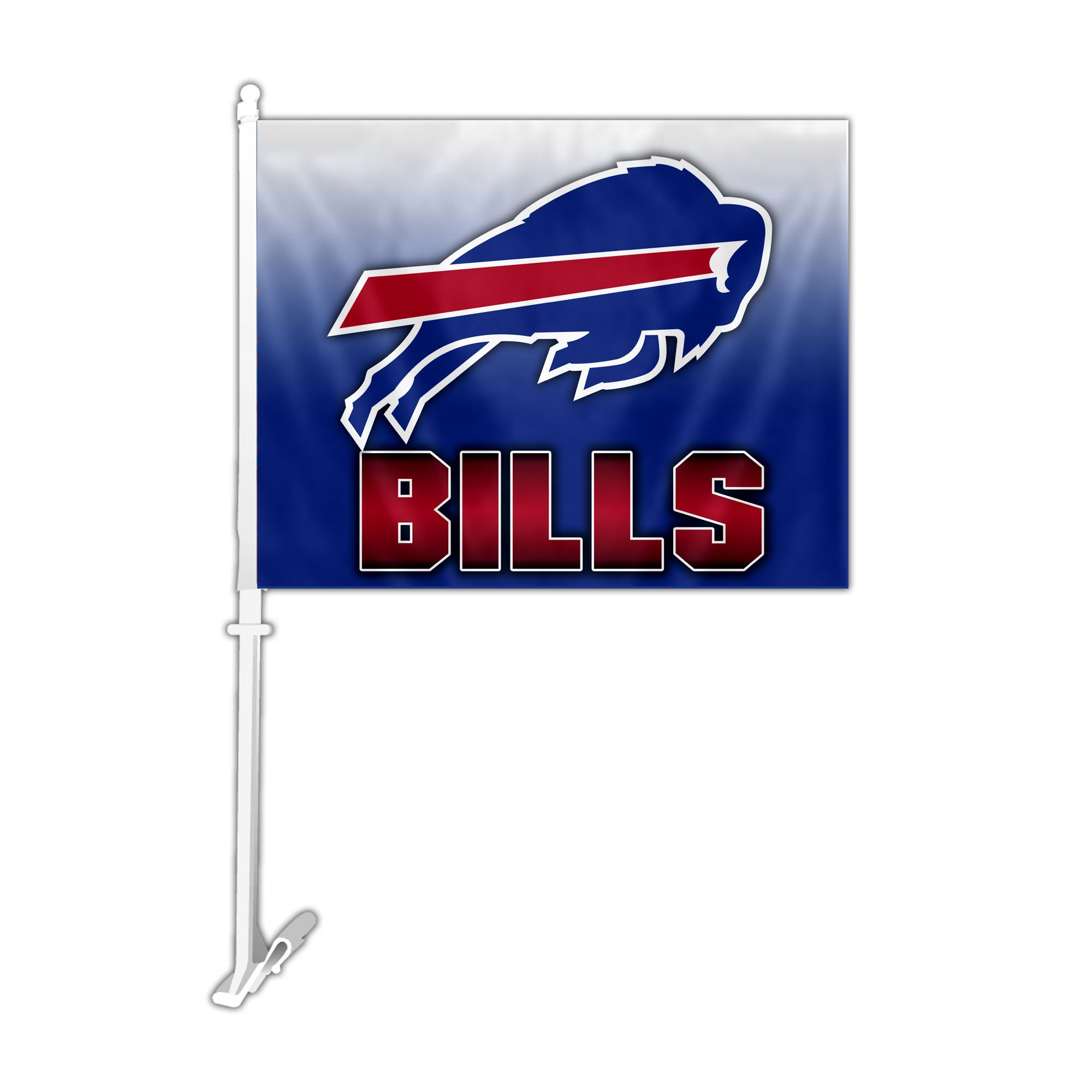 NFL Buffalo Bills Car Flag with Wall Bracket, Team Color