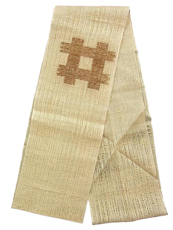 リサイクル 名古屋帯 夏物 八寸 井筒に十字文 正絹 B07F655QSC  -