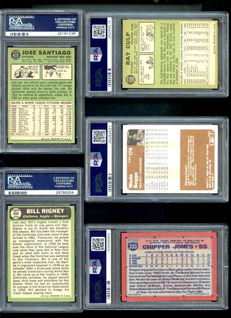 1991 CHIPPER JONES TOPPS ROOKIE #333 PSA 9 ATLANTA BRAVES CENTERED 754