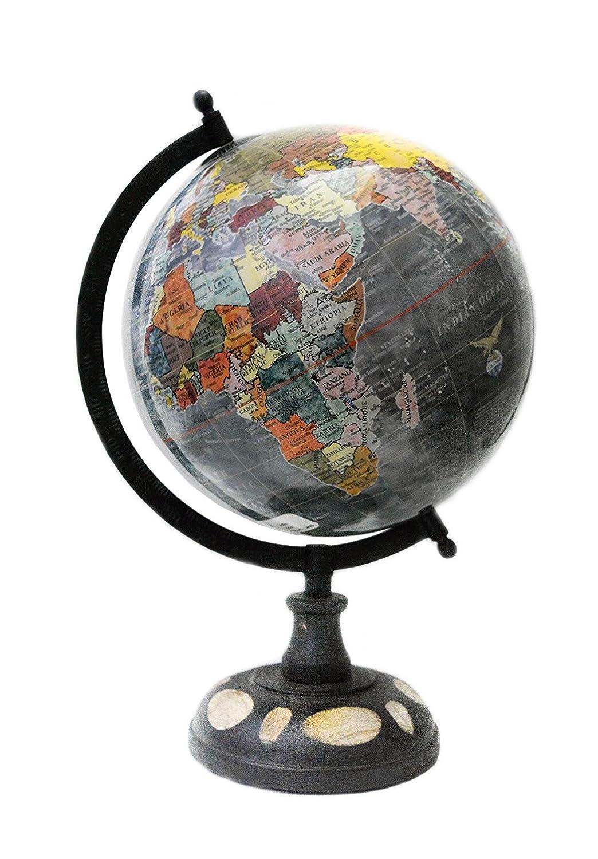 13' pollici Desktop decorativo della tabella della decorazione multicolore di colore ruotato Globo del mondo mappa del mondo con Stand by 'Mr. Globo'