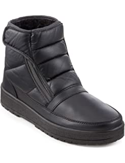 12d37a6a713 Dr Keller Billy Leather Twin Zip Winter Boots Full FurLined Everyday ...