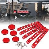 Red 5 PCS Grab Handle Inserts Cover Door Handle for Jeep Wrangler JK Unlimited 4Door 2007-2017