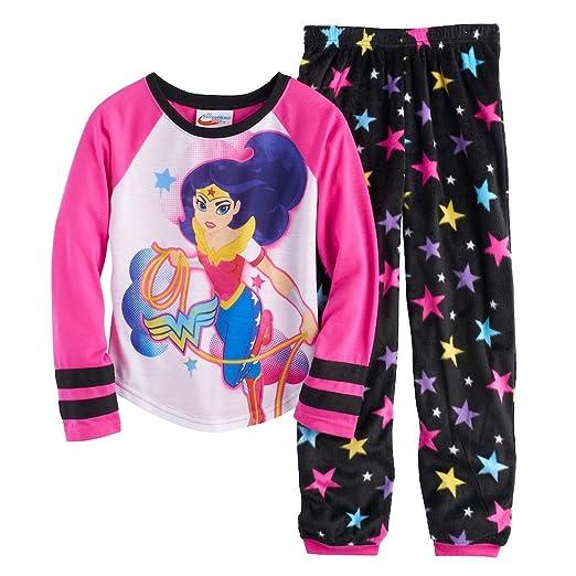 d657fec153 Image Unavailable. Image not available for. Color  DC Comics Wonder Woman  Lasso Tee   Bottoms Pajama Set ...