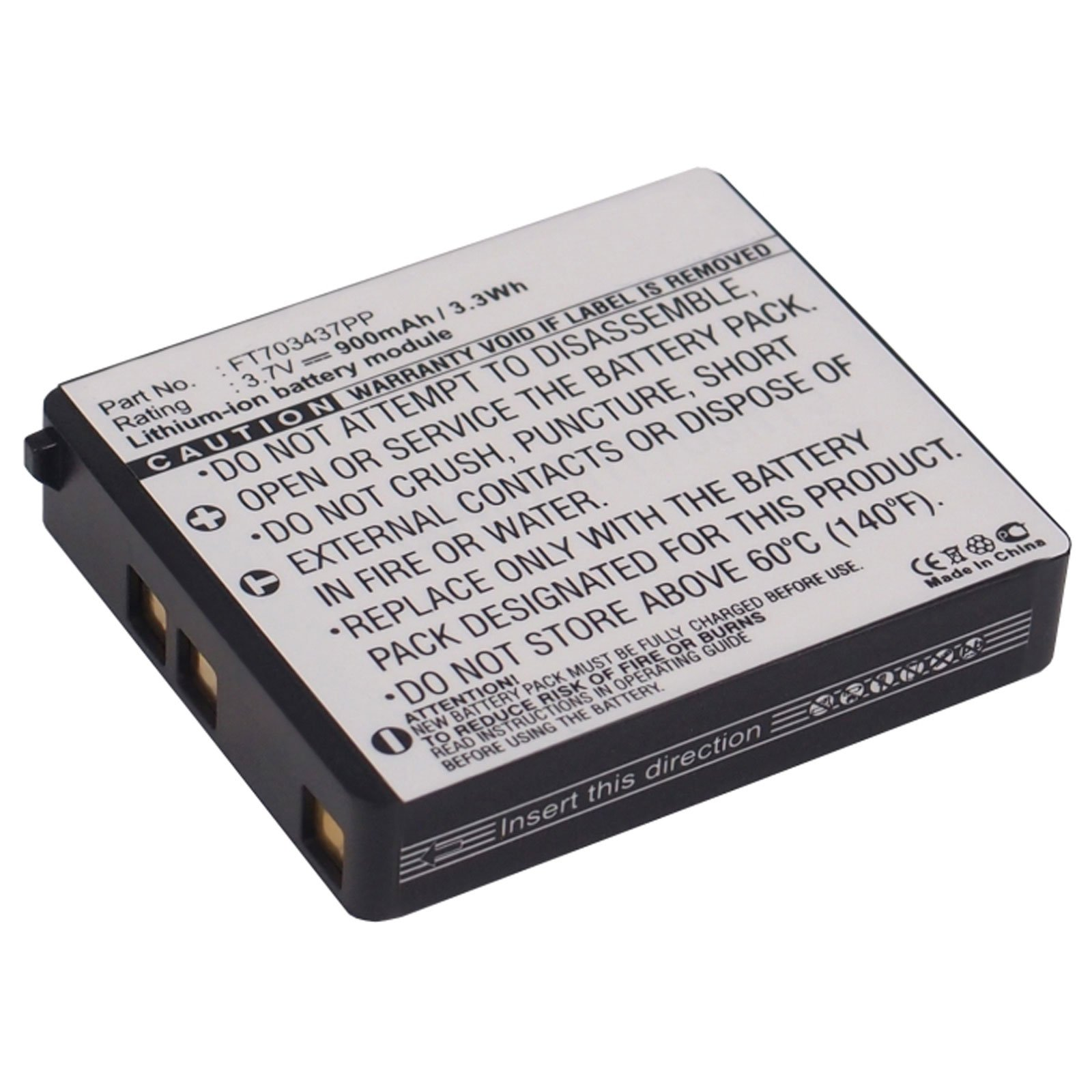 900Mah Lithium Battery For RAZER Mamba Gaming Wireless Mouse Part: FT703437PP, RZ03-00120100-0000 , Model : RC03-001201