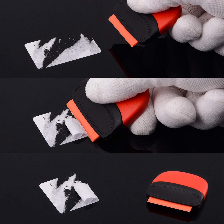 Moligh doll 14Pcs Car Window Tint Tool Kit Carbon Fiber Vinyl Film Sticker Car Wrap Tool Tinting Magnetic Squeegee Razor Scraper