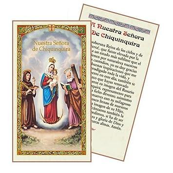 Amazon.com: Oracion a La Santisima Virgen De Chiquinquira ...