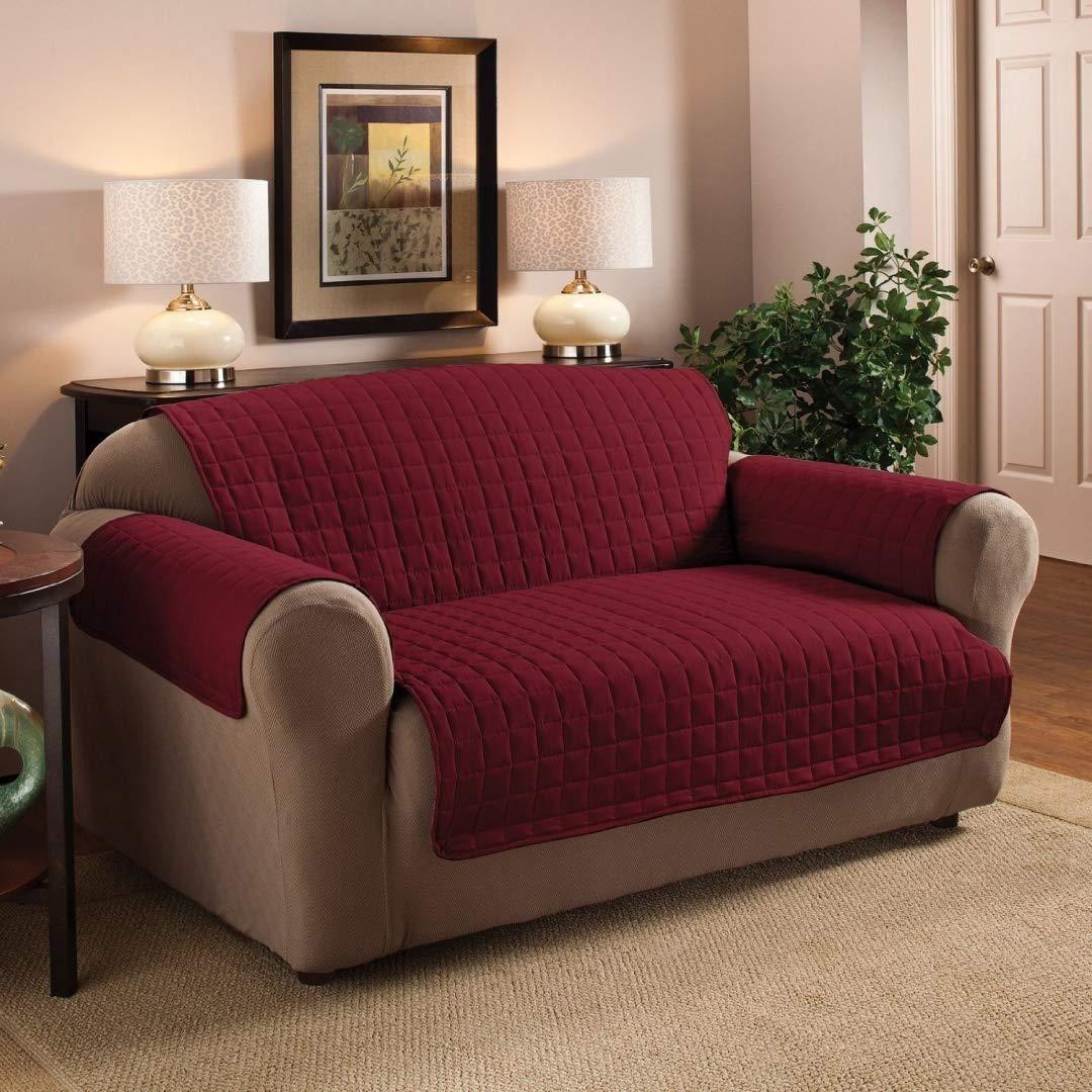 3 Seater Sofa Protector Burgundy / Wine 68 x 70.5 Water ...