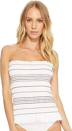 b1e7886380f92 Tory Burch Swimwear Women's Costa One-Piece New Ivory/Poppy Red/Tory Navy