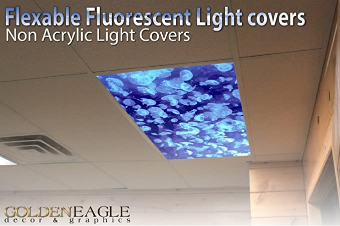 Jellyfish - 2ft x 4ft Drop Ceiling Fluorescent Decorative ...
