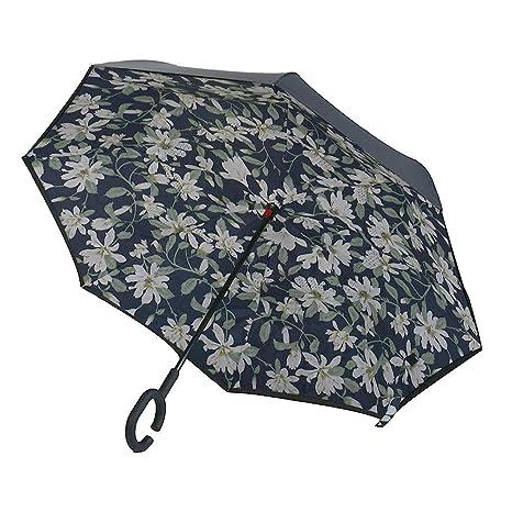 Al revés Marcha atrás C-mango paraguas de doble capa Colores hacia adentro