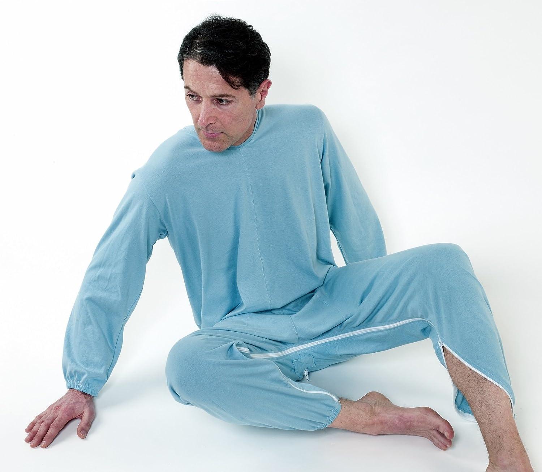 Pijama mono antipañal sanitario con doble apertura – trasero y interior de caballo XXXL