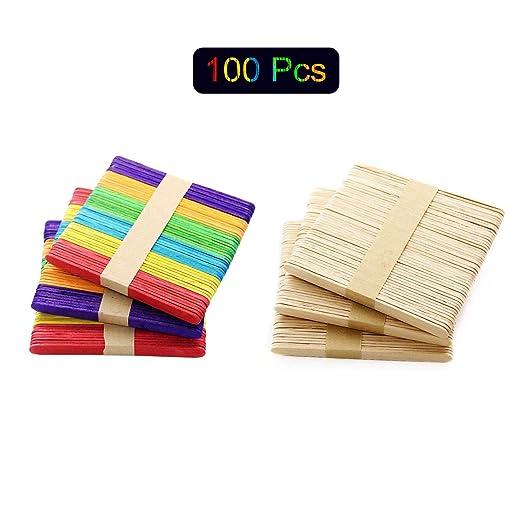 Kitchen-dream 100 piezas de palitos artesanales, palitos de helado ...