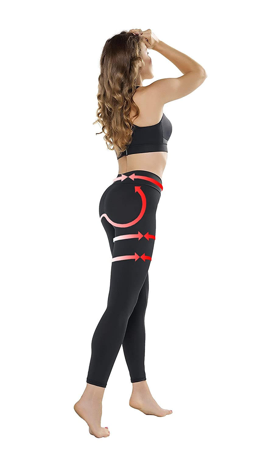 Pantaloni Sportivi per Fitness Palestra Push Up Anti Cellulite da Donna