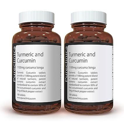 Cúrcuma Turmeric - 1000mg x 360 comprimidos (2 frascos) – Con 5mg de extracto de pimienta negra para una absorción aumentada. SKU: TUCRx2