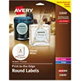 Avery Easy Peel Round Labels Pack of 135 Pack of 135 Glossy White