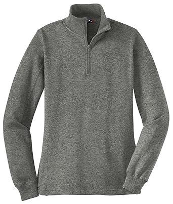 5249227e1918 Sport-Tek Women s 1 4 Zip Sweatshirt at Amazon Women s Clothing store