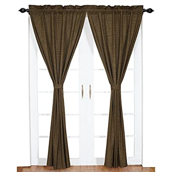 Green Curtains amazon green curtains : Amazon.com : Plaid Panel Curtain in Green - Set of 2 : Window ...