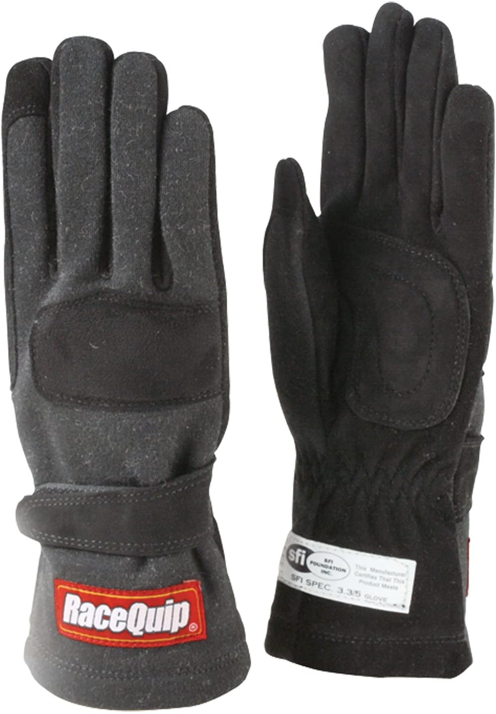 RaceQuip 355002 355 Series Small Black SFI 3.3//5 Two Layer Racing Gloves