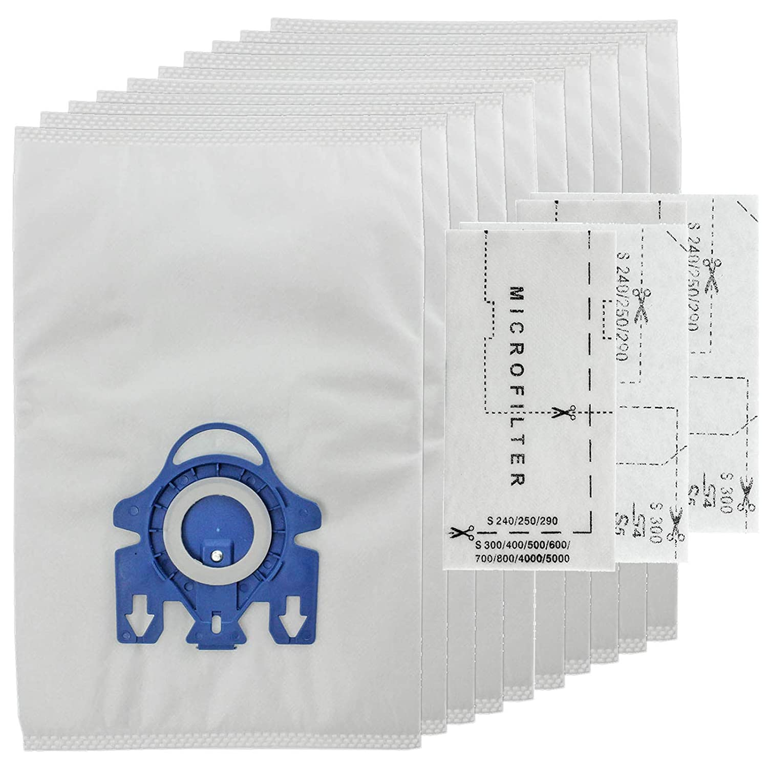 Pack of 20 /& 8 Filters + 10 Free Vacuum fresheners First4Spares FJM 3D Type Microfibre Dust Bags for Miele Vacuum Cleaners