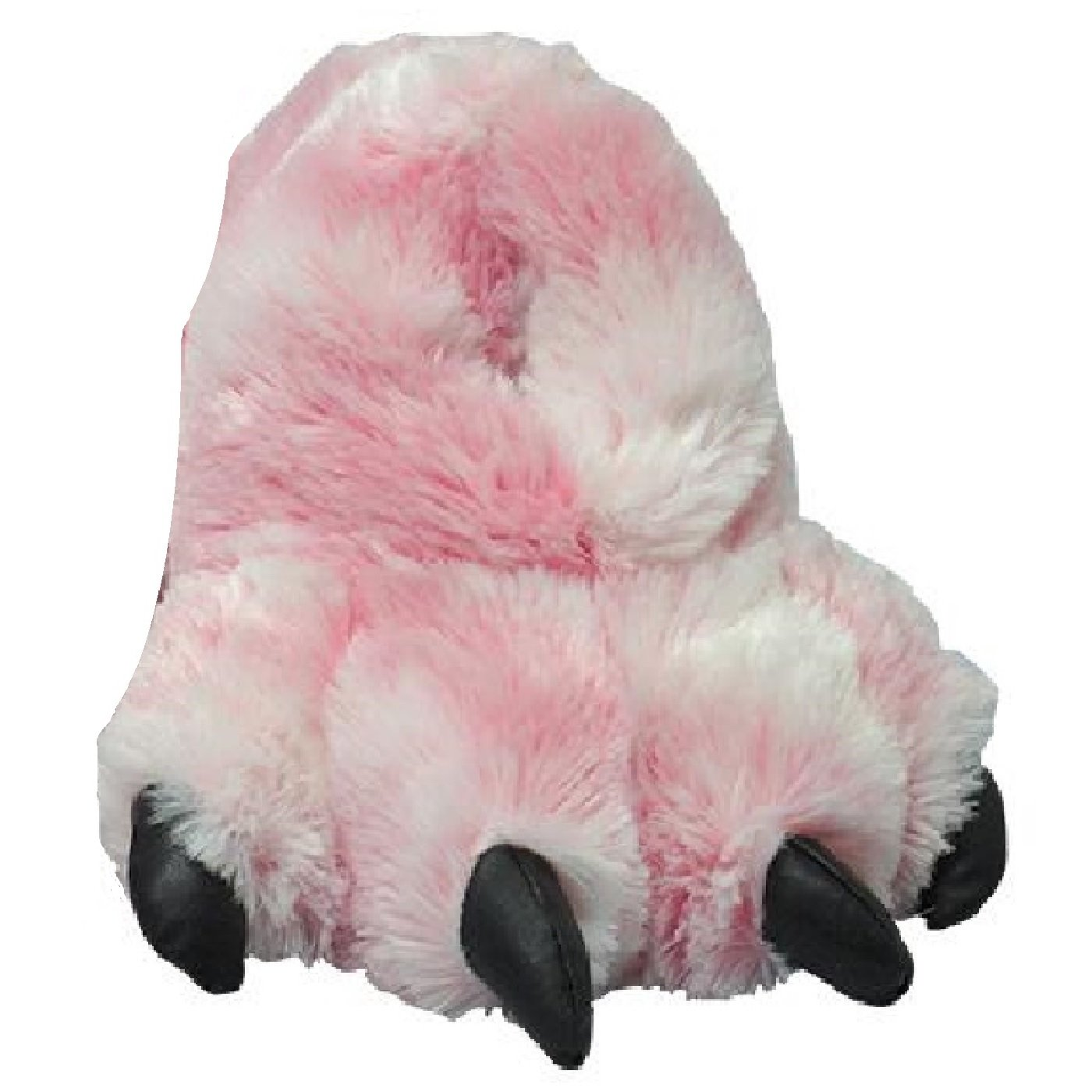 Pink Tiger Sundial Wild Ones Furry Animal Claw Slippers for Toddlers, Kids and Adults