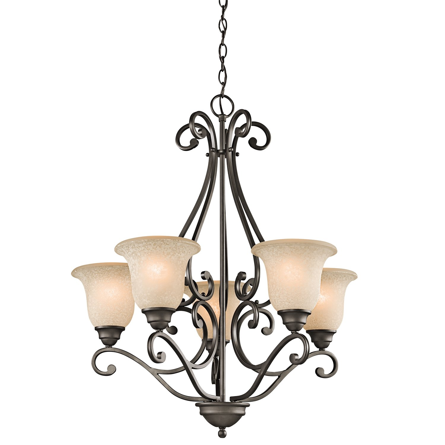 "Kichler 43224OZ Camerena Chandeliers Lighting, Olde Bronze 5-Light (27"" W x 31"" H) 500 Watts"
