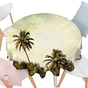 Amazoncom Cheery Home Polyester Tablecloth Palm Tree Decor Jungle - Palm-tree-furniture-from-pacific-green