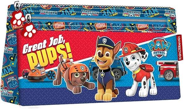 Paw Patrol-La Patrulla Canina Estuche portatodo Plano, Color Azul, 22 cm (Karactermanía 32397): Amazon.es: Juguetes y juegos