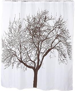 Kipten Polyester Fabric Mocha Tree Shower Curtain