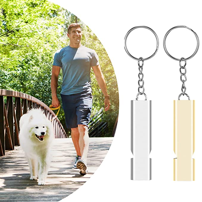 Seraphis Emergency Whistle 2 Pack Aluminium Double Tubes Safety Whistles Outdoor