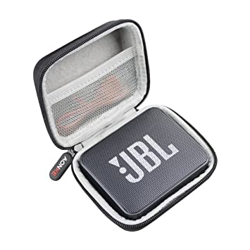 Khanka Duro Viaje Estuche Bolso Funda para JBL GO 2 Altavoz inal/ámbrico port/átil Bluetooth Champagne Zip