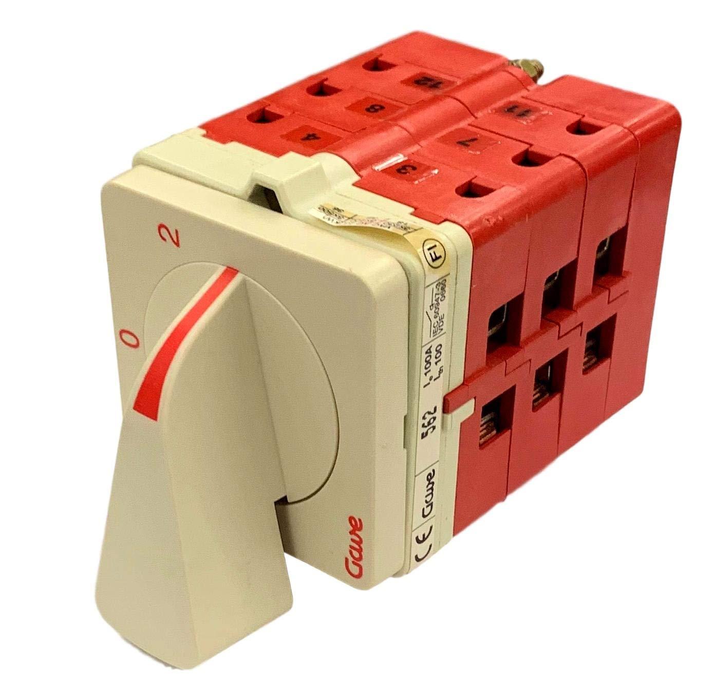Gave, A-5627100, 100A 600V 3 Position Switch 1-0-2 A5