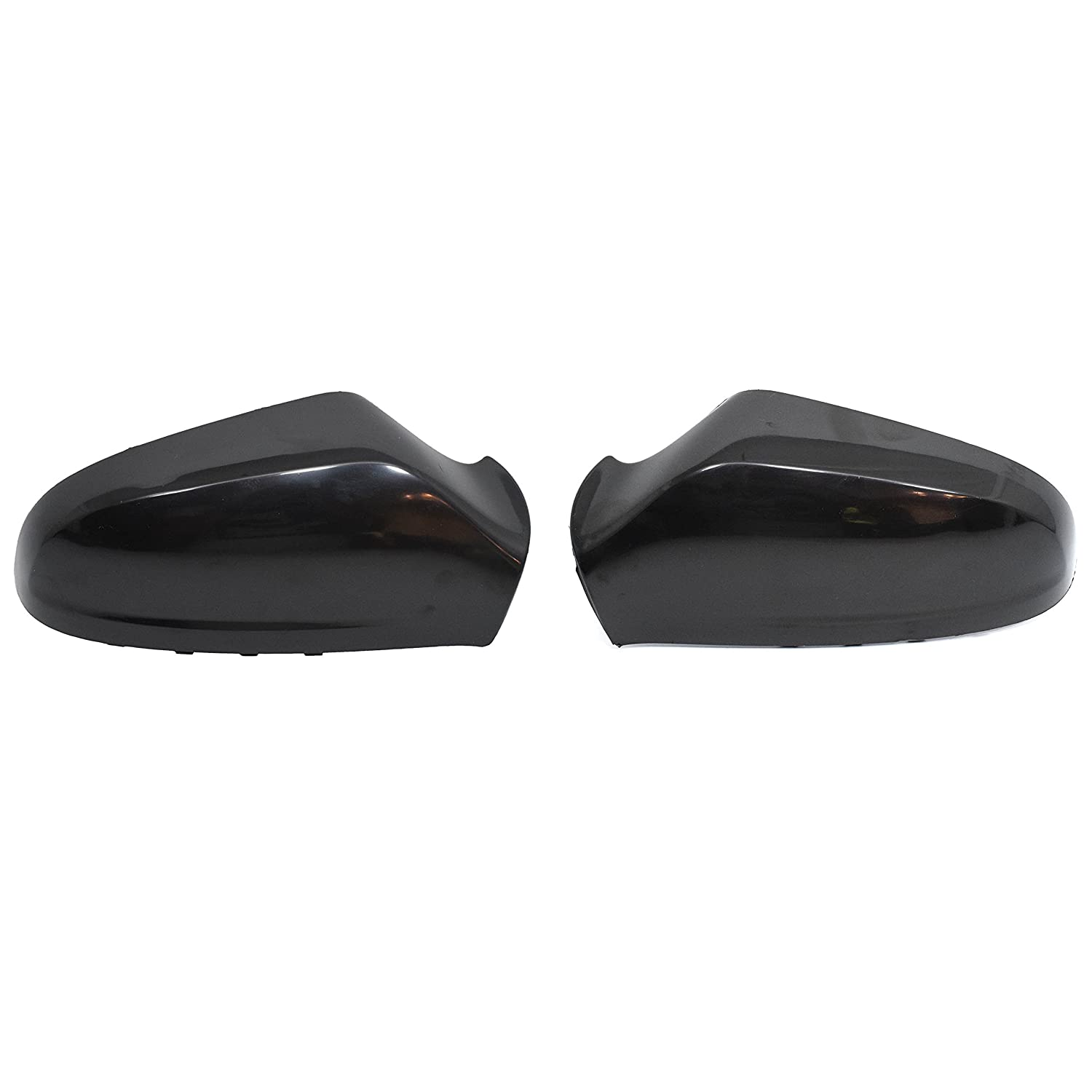 Black Left and right sides mirror cover caps Outside Mirror Cover