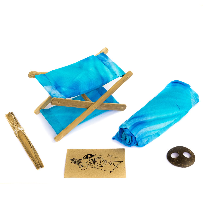 Almohada de Playa Envuelto en una Cesta de Bamb/ú Hamaca para Cabeza Reposa Cabezas de Exteriores Kit de Playa y Campo Leer en la Playa Incluye un Pareo
