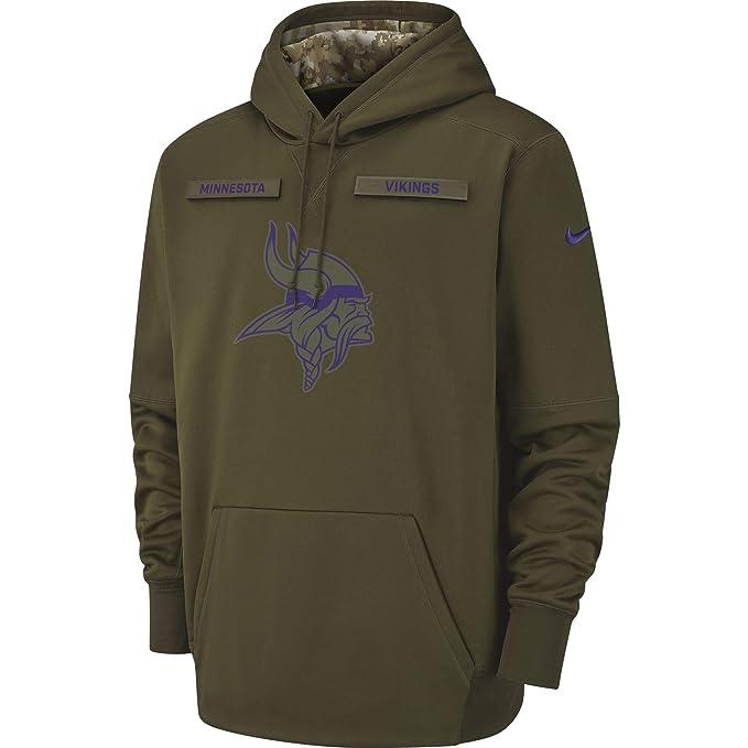 promo code 4e7ae 4b43f Amazon.com: Nike Men's Minnesota Vikings Therma Fit Pullover ...