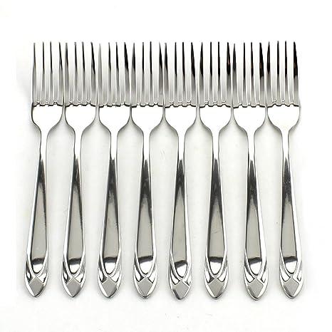Amazon.com: zicome 8 piezas Tenedores – Heavy Duty de acero ...