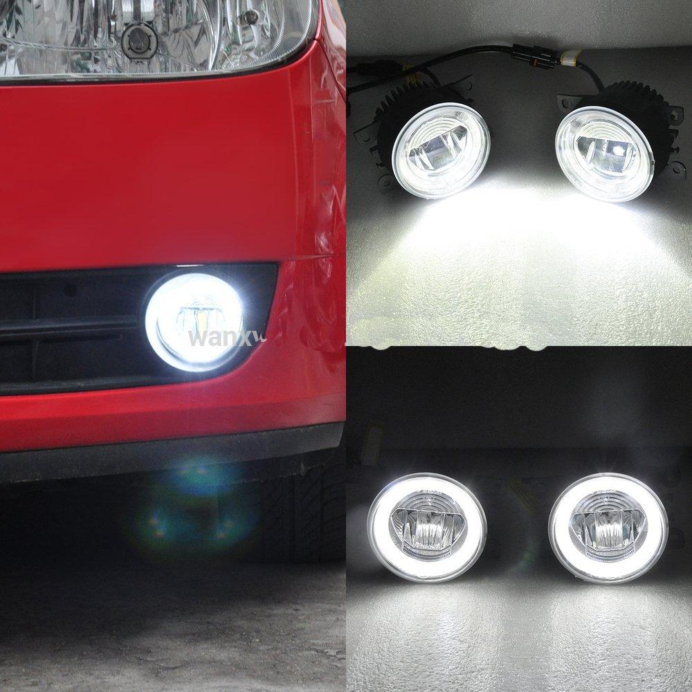 Nslumo 12v 24v Led Fog Light 9cm With Drl Halo Daytime Running High Power And Lights Wiring Switch Toyota Aygo Lamp For Auris Yaris Rav4 06 08 Kluger Car Styling
