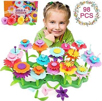 LinStyle Juguetes para niñas de 3 a 6 años, Juego de Juguetes de Construcción de Jardín Flores Juguetes de Construcción de Jardín Bloques Juguete para Niños Pretender Navidad Cumpleaños Regalos: Amazon.es: Juguetes