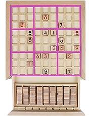 Andux Zone Madera Sudoku Juegos de Mesa con cajón SD-02 (Rosa)
