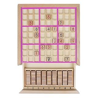 Andux Zone Sudoku Gioco da Tavolo Puzzle in Legno con cassetto SD-02 (Rosa)