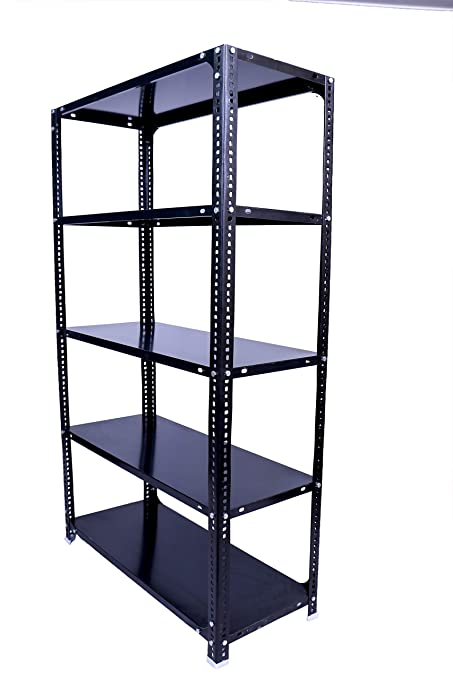 MENAGE® Slotted Angle Rack 72 x 36 x 12 Inch with Shelf Shelving Unit  Multipurpose Rack (Grey, 5 Shelf)