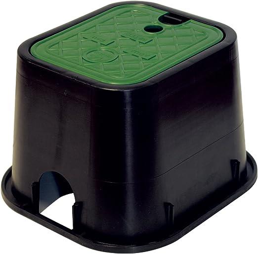 Aqua control M115717 C1900 - Arqueta cuadrada para 1 electrovalvula, 21 x 17 5 x 18 cm: Amazon.es: Jardín