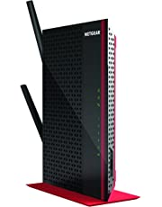 Netgear Dual Band WiFi Internet Range Extender Desktop Edition for Home, Office, Black/Red, AC1200, EX6200-100AUS