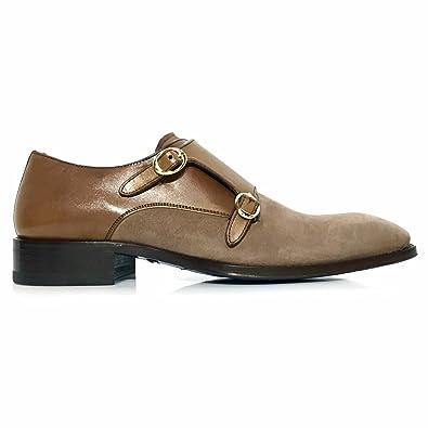 226ad936c1 Mezlan Custom Men s Double Monk Strap Shoes US 8 M Brown
