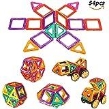 FUNTOK 54 pezzi Blocchi Costruzioni Magnetici Set InnooTech Blocchi Giocattolo Magnetico costruzione educativi in anticipo Giocattoli educativi Giochi di 3D puzzle per bambini