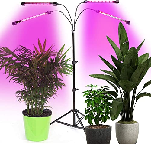Tonpvou 40W LED Plant Grow Light,with Adjustable Rope,Full Spectrum Plant Light for Indoor Plants Veg and Flower Grow Lamp with IR UV Red Blue LED,Micro Greens,Clones,Succulents,Seedling 320W